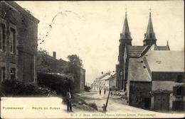 Cp Pussemange Vresse Sur Semois Wallonien Namur, Route De Sugny, Kirche - Other