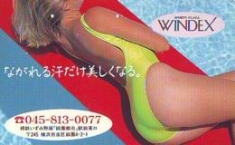 Télécarte Japon * EROTIQUE (6550)  *  EROTIC PHONECARD JAPAN * TK * BATHCLOTHES * FEMME SEXY LADY LINGERIE - Fashion