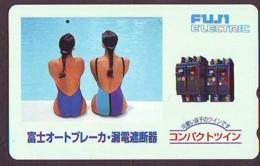Télécarte Japon * EROTIQUE (6556)  *  EROTIC PHONECARD JAPAN * TK * BATHCLOTHES * FEMME SEXY LADY LINGERIE - Mode