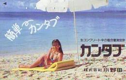 Télécarte Japon * EROTIQUE (6558)   *  EROTIC PHONECARD JAPAN * TK * BATHCLOTHES * FEMME SEXY LADY LINGERIE - Fashion