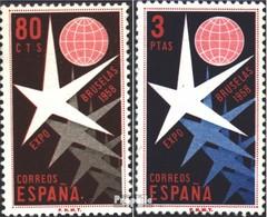 Espagne 1117-1118 (complète.Edition.) Neuf Avec Gomme Originale 1958 Exposition Universelle - 1951-60 Ungebraucht