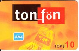 TONGA - ANZ, TonFon Prepaid Card TOP$10, Used - Tonga