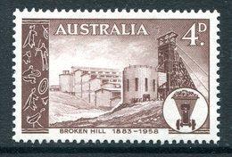 Australia 1958 75th Anniversary Of Founding Of Broken Hill HM (SG 304) - 1952-65 Elizabeth II : Pre-Decimals