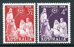 Australia 1958 Christmas LHM (SG 306-307) - Mint Stamps