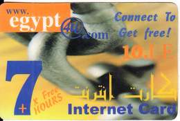 EGYPT - Www.egypt4u.com Internet Prepaid Card 10 L.E., Used - Egypt