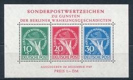 Berlin Block 1 Plattenfehler II ** Fotoattest Schlegel Mi. 2500,- - Berlin (West)