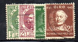 APR1642 - IRLANDA 1943 , Le Due Serie Usate Dell'annata  (2380A) - 1937-1949 Éire
