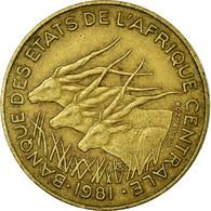 Monnaie, États De L'Afrique Centrale, 10 Francs, 1981, Paris, TB+ - Centrafricaine (République)