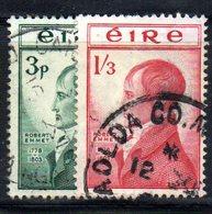 APR1645 - IRLANDA 1953 , Unificato N. 120/121  Usata  (2380A) - 1949-... Repubblica D'Irlanda