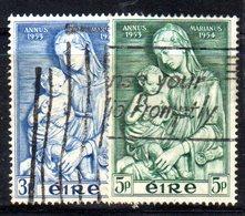 APR1646 - IRLANDA 1954 , Unificato N. 122/123  Usata  (2380A) Anno Mariano - 1949-... Repubblica D'Irlanda