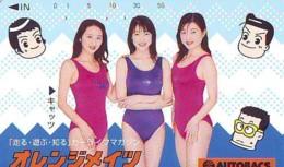 Télécarte Japon * EROTIQUE (6572)  *  EROTIC PHONECARD JAPAN * TK * BATHCLOTHES * FEMME SEXY LADY LINGERIE - Mode