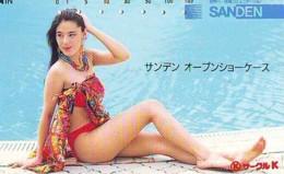 Télécarte Japon * EROTIQUE (6575) SANDEN *  EROTIC PHONECARD JAPAN * TK * BATHCLOTHES * FEMME SEXY LADY LINGERIE - Mode