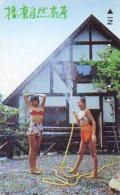 Télécarte Japon * EROTIQUE (6580) *  EROTIC PHONECARD JAPAN * TK * BATHCLOTHES * FEMME SEXY LADY LINGERIE - Mode
