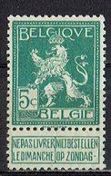 Belgien 1912 // Mi. 91 ** - 1912 Pellens