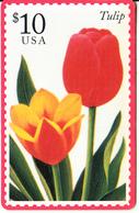USA - Stamp, Tulip, U.S.Postal Service/American Express Telecom Prepaid Card $10, Mint - Vereinigte Staaten