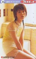 Télécarte Japon * EROTIQUE (6592) MANAKA HITOMI *  EROTIC PHONECARD JAPAN * TK * BATHCLOTHES * FEMME SEXY LADY LINGERIE - Fashion