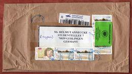 Luftpost, Cap Blanc U.a., Zollaufkleber Niederaula, Sidi Mahres Nach Gerlingen 2018 (76062) - Tunesien (1956-...)