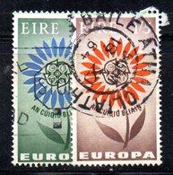 APR1647 - IRLANDA 1964 , Unificato N. 167/168  Usata  (2380A) Europa Cept - 1949-... Repubblica D'Irlanda