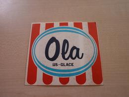 Autocollant Ancien OLA IJS-GLACE - Vignettes Autocollantes