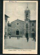 CPA - S. QUIRICO D'ORCIA - Chiesa Della Madonna Di Vitaleta, Animé - Siena