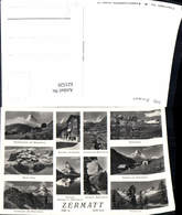 621520,Mehrbild Ak Zermatt Matterhorn Schwarzsee Findeln Grünsee Monte Rosa - VS Wallis