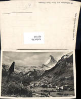 621518,Foto Ak Zermatt Matterhorn Wegkreuz Kreuz - VS Wallis