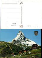 621515,Zermatt Matterhorn Switzerland Le Cervin Prägekreuz Wappen - VS Wallis