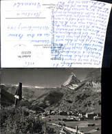621512,Foto Ak Zermatt Matterhorn Wegkreuz Kreuz - VS Wallis