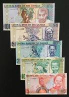 GAMBIA SET 5 10 25 50 100 DALASIS BANKNOTES UNC - Gambia