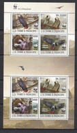 Sao Tome And Principe MNH Michel Nr 3777/80 From 2009 Compleet Sheet WWF / Catw 24.00 EUR - Sao Tome En Principe