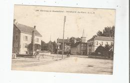 SOCHAUX 585 LA PLACE ENVIRONS DE MONTBELIARD (EGLISE ET FONTAINE) 1917 - Sochaux