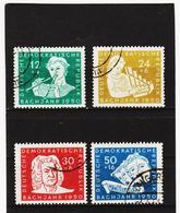 YZO651 DDR 1950 MICHL 256/59 Gestempelt ZÄHNUNG SIEHE ABBILDUNG - [6] República Democrática