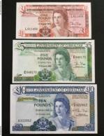 GIBRALTAR SET 1 5 10 POUNDS BANKNOTES 1986-1988 UNC - Gibraltar