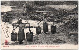TONKIN - Petites Filles Porteuses D'eau - Viêt-Nam
