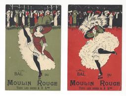 NAILLOD 2 CARTES BAL DU MOULIN ROUGE PARIS PUBLICITE Défauts / FREE SHIPPING R - Advertising