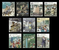 Singapore 2019 Mih. 2616/25 Singapore Bicentennial. Ships. Boats. War. Police. Transport. Sport MNH ** - Singapur (1959-...)