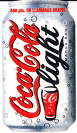 SPAIN - Coca Cola Light, Excel Promotion Prepaid Card, Used - Advertising