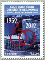 France 2019 Cour Européenne Des Droits De L'Homme 1959 - 2019 MNH / Neuf** - France