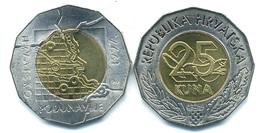 Croatia, 25 Kuna, 1997, Danube Border - Croazia
