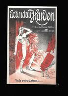 C.P.A. PUBLICITAIRE D.EXTINCTEUR HARDEN. - Publicidad