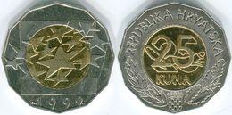 Croatia, 25 Kuna, 1999, Euro Currency - Croazia