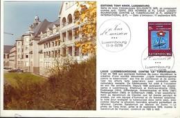 11.9.1978  -  Edit. Tony Krier,Luxembg - Ligue Luxembourgeoise Contre La Tuberculose Ficure Côté Gauche - Cartes Maximum