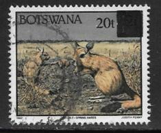 Botswana Scott # 595 Used Spring Hares Surcharged, 1996 - Botswana (1966-...)
