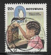 Botswana Scott # 598 Used Child Listening To Radio, 1996 - Botswana (1966-...)