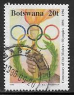 Botswana Scott # 602 Used Olympics, 1996 - Botswana (1966-...)