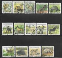 Botswana Scott # 741-54 Used Mammals, 2002 - Botswana (1966-...)
