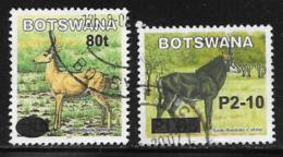 Botswana Scott # 813A-B Used Animals, Surcharged, 2006 - Botswana (1966-...)