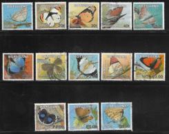 Botswana Scott # 843-55 Used Short Set Butterflies, 2007 - Botswana (1966-...)