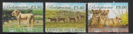 Botswana Scott # 953-4,956 Used Lions, 2014 - Botswana (1966-...)