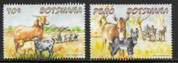 Botswana Scott # 958,960 Used Farm Animals, 2014 - Botswana (1966-...)